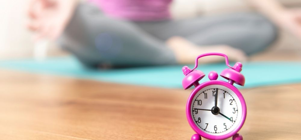 be on time on online yoga class