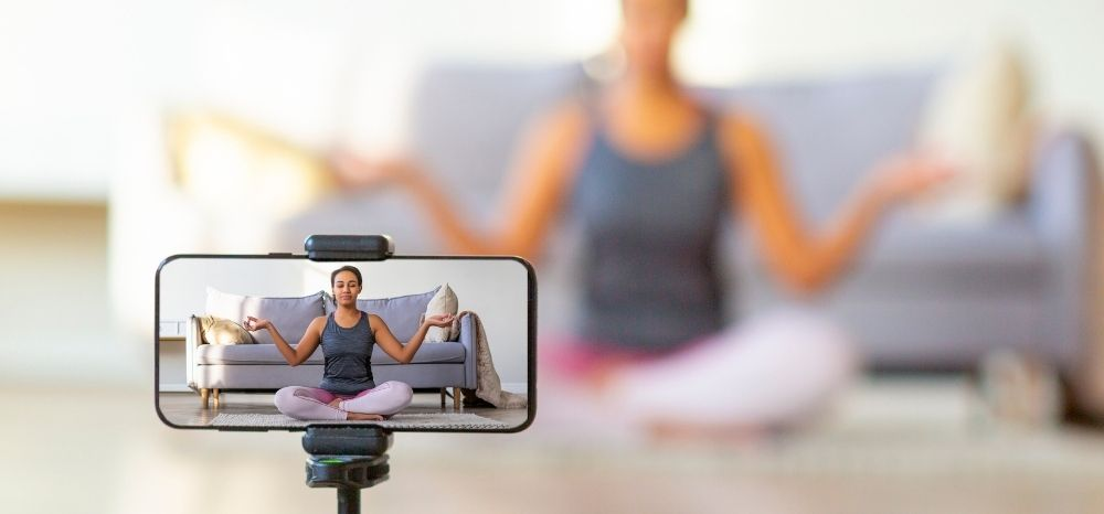 Put that camera on, and adjust your view and how you are viewed (this is only applicable for live virtual yoga classes).